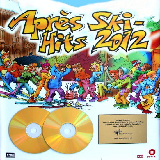 Gold Auszeichnung für unsere Produktionen an der Apres Ski Hits 2012